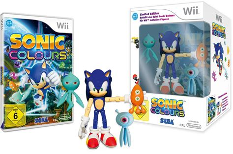 sonic colors wii wii and ds sonic colours limited edition with figures