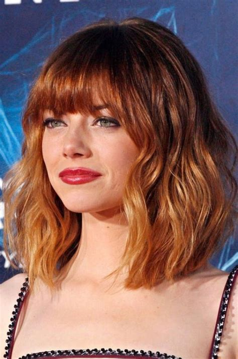 red hair with blonde ombre bob haircut short red ombre haircut with bangs hairstyles weekly
