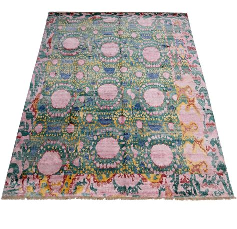 ikat area rug contemporary and abstract psychedelic ikat area rug at 1stdibs