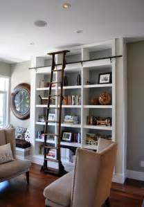 Library Bookshelves With Ladder Ladders An Interior D 233 Cor Element With Lots Of