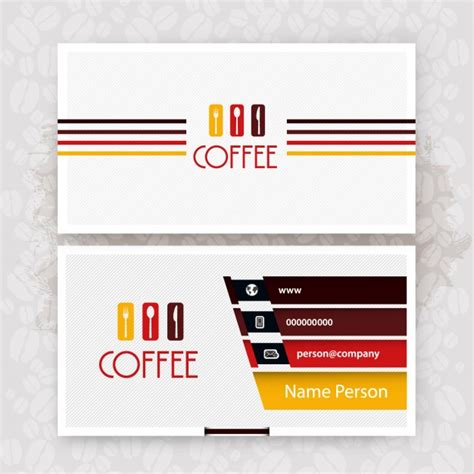 Http Www Freepik Free Vector Coffee Business Card Template 1105489 Htm by Cafe Business Card Vector Free