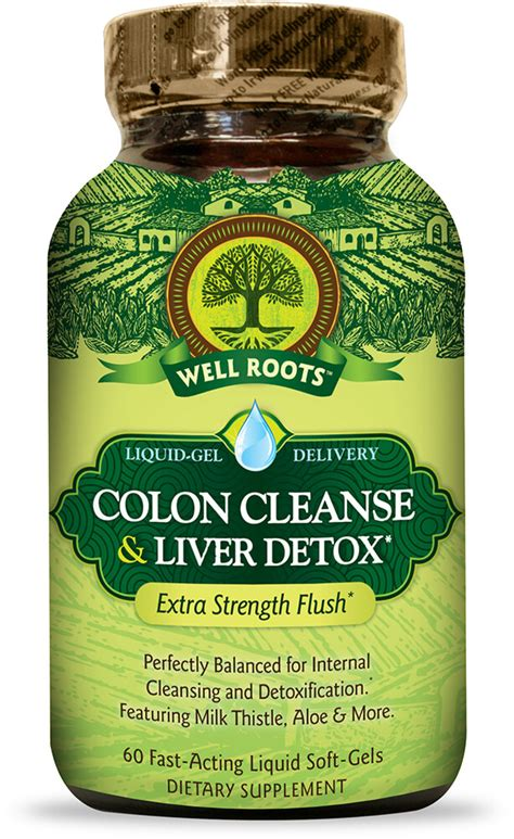 Detox And Colon Cleanse Supported By Liver Enzymes by Colon Cleanse Liver Detox 60 Softgels Digestive Health