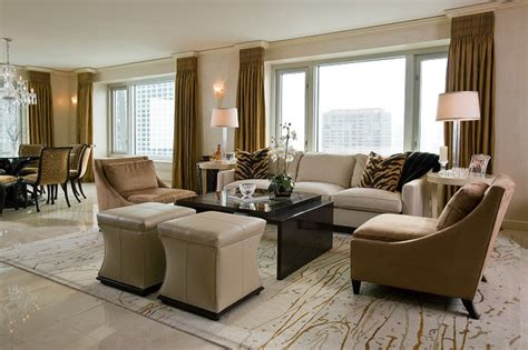 home design idea center transitional elegance condo modern living room chicago by interiors by susan