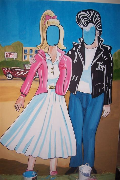 grease theme decorations setup a prop area to take pictures at during your grease