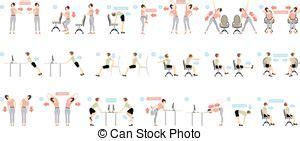 esercizi da ufficio esercizi illustrazioni e clip 201 081 esercizi