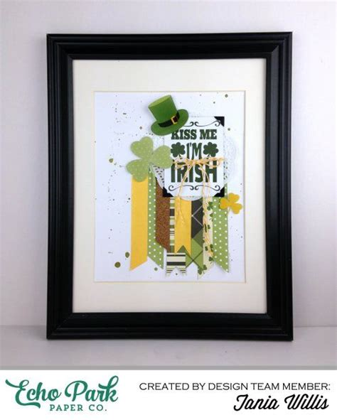 St Kid Echopark quot lucky you quot framed tutorial for st s day by