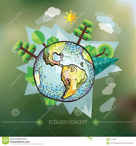doodle world doodle world drawing vector illustration of nature with