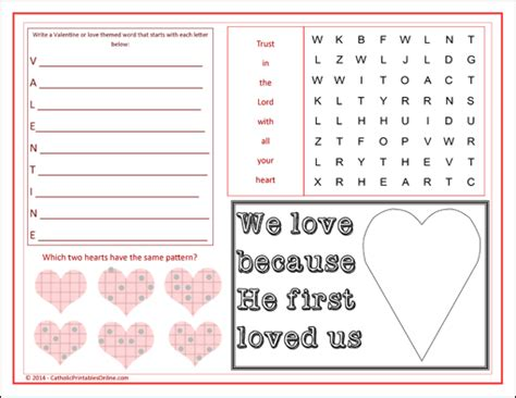 printable valentine games for church 6 best images of printable church games free sunday