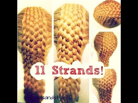 written instructions for 5 strand dutch braid how to 11 strand braid braidsandstyles12 youtube
