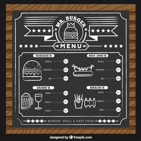 plantilla de menu de hamburguesa descargar vectores gratis