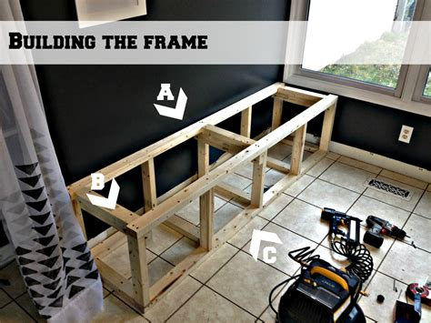 how to build a built in bench with storage remodelaholic build a custom corner banquette bench