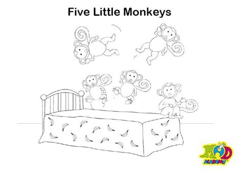 ten little monkeys coloring page 27 best nursery images on pinterest day care babies