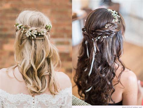 bridesmaid hairstyles 2018 inspiration tendencies and photos cool haircuts
