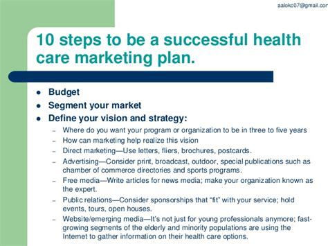 Health Insurance Marketing Letters Ppt On Health Care Marketing