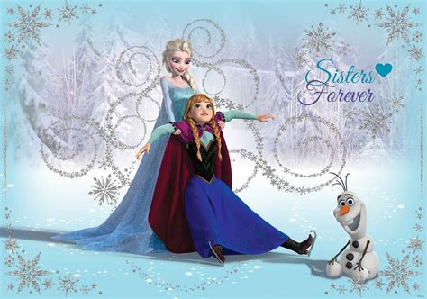 frozen wallpaper to buy disney frozen elsa anna olaf wall paper mural buy at