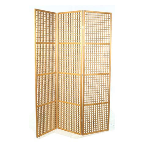Lattice Room Divider Contemporary Pine Lattice Folding Screen Room Divider
