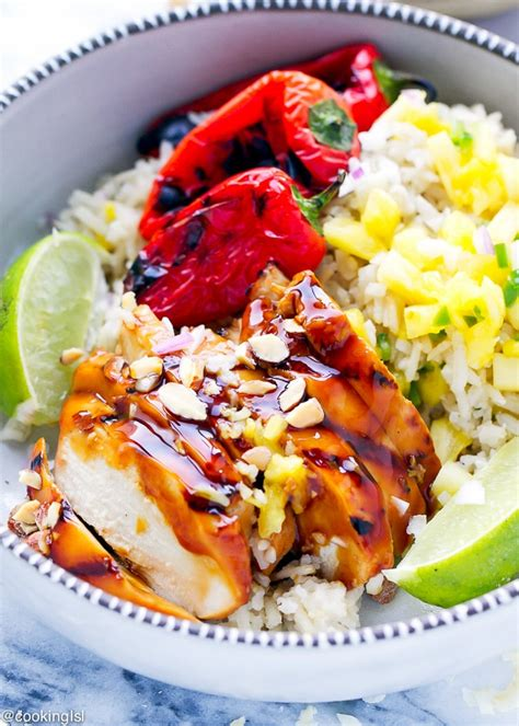 pineapple chicken boat grilled teriyaki chicken pineapple boats recipe cooking lsl