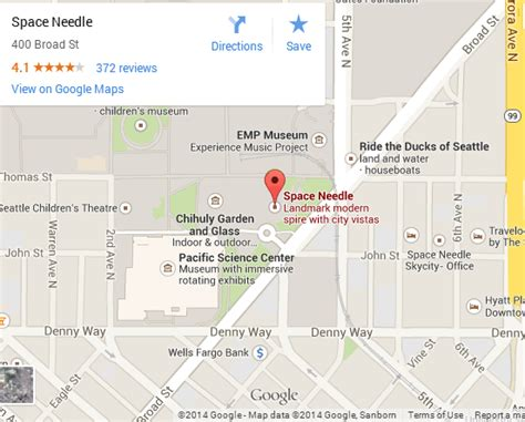 seattle map space needle maps embed api to benefit local search engines