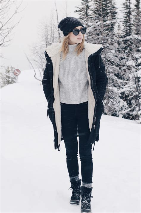 woman in winter clothing what to wear in a new york city snow storm lauren nelson