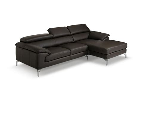 Dreamfurniture Com Amafi Modern Leather Grey Sectional Modern Leather Sectional Sofas