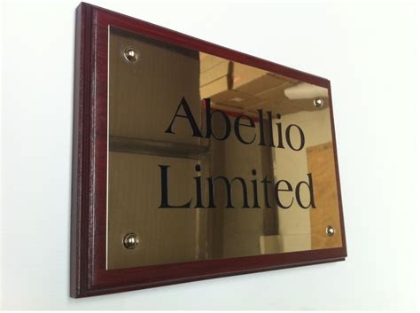 name plates for businesses brass acrylic steel