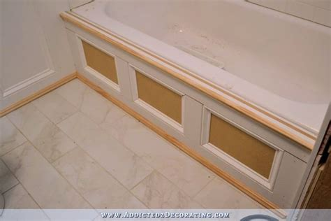 Bathtub Skirt diy tub skirt decorative side panel for a standard apron