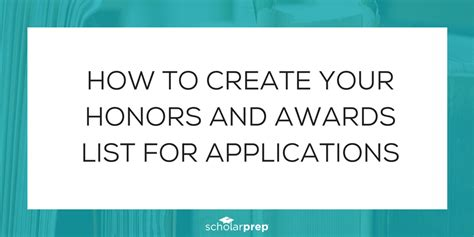 common app honors section how to create your honors and awards list for applications