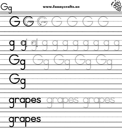 Alphabet Worksheets For Grade by Letter G Handwriting Worksheets For Preschool To