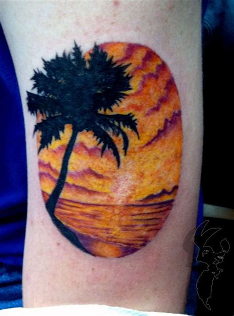 palm tree sunset tattoo designs 26 best images about tattoos on sunsets