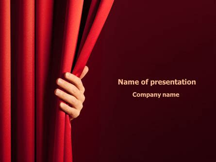 Red Curtain Presentation Template For Powerpoint And Keynote Ppt Star Microsoft Powerpoint Templates Theatre