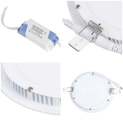 led recessed lighting contractor pack 10 pack 9w round recessed led panel light ceiling down