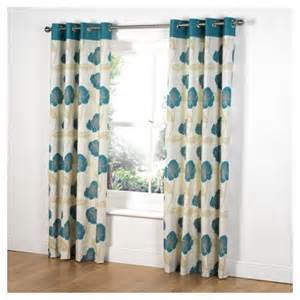 Teal Print Curtains Buy Tesco Poppy Print Unlined Eyelet Curtains W168xl137cm 66x54 Quot Teal From Our Eyelet