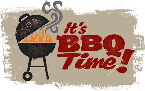 it s it s bbq grilling time stock vector 169 daveh900 9259005