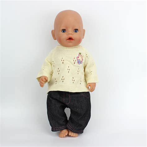 Baby Doll Denim Biru Tua baby born zapf picture more detailed picture about new 1set sweater doll clothes wear