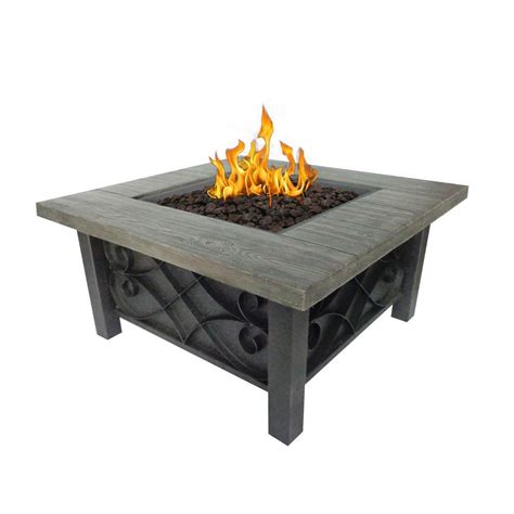 Bond Manufacturing Marbella 34 In Square Stainless Steel Bond Firepit