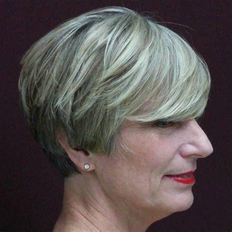 wedge haircut for grey hair 20 wonderful wedge haircuts short gray hairstyles grey