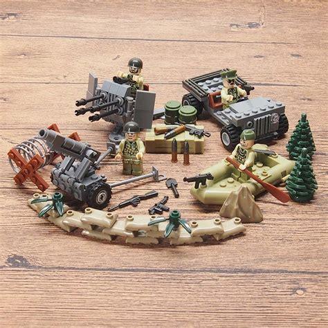 Mainan Bricks Army Ww Ii Set By Doll ww2 figures schwarzwald weapon gun soldier set army building brick toys sets toys