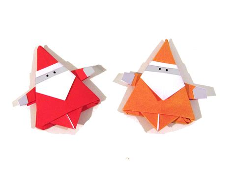 How To Make Santa Origami - origami santa claus how to make an easy
