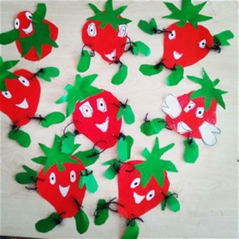 strawberry crafts for fruit craft idea for crafts and worksheets for