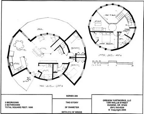 Yurt House Plans Yurt Home Plans Two Story Yurt Floorplan House Floor Plans Home Garden Plans