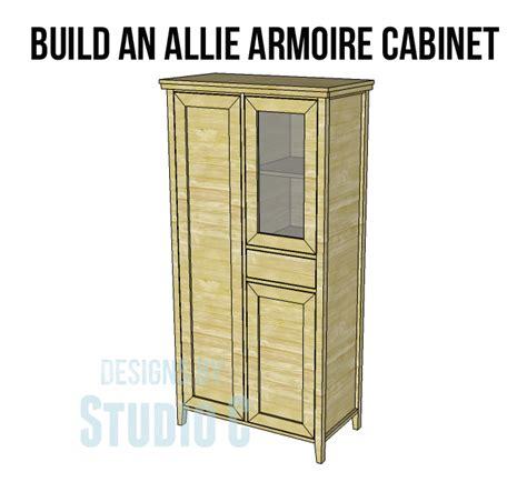 building an armoire build an allie armoire cabinet designs by studio c