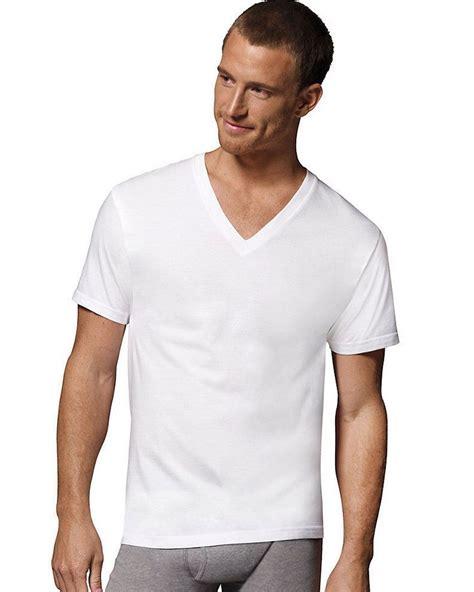 T Shirt Fresh White B C hanes 7777m3 s comfortblend superior softness v neck
