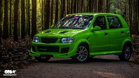 maruti alto  modified green kerala modifiedx