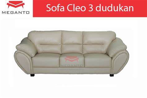 Sofa Ekonomis sofa cleo 3 dudukan toko kasur bed murah
