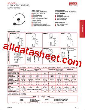 murata capacitors datasheet ma40e7r datasheet pdf murata manufacturing co ltd