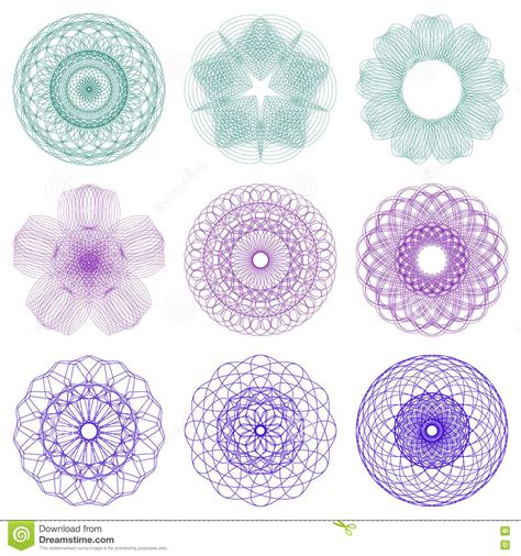 security paper pattern vector pattern rosette for play money or other security papers