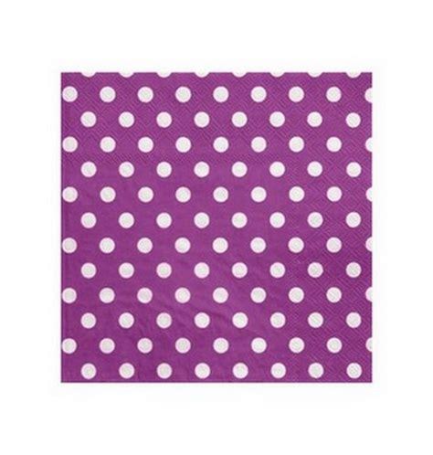 Decoration Serviette by Serviette En Papier Violettes 224 Pois En Papier 1001 D 233 Co