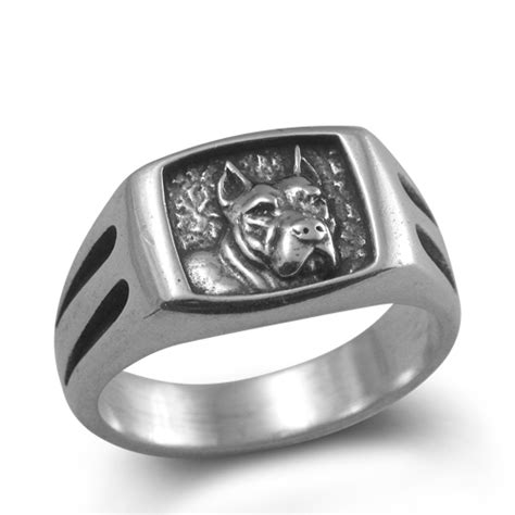 Ring For Pit Silver Pit Bull Terrier Ring