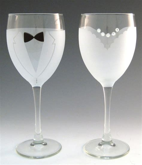awesome wine glasses totally awesome goods decorated wine glasses and groom 28 00 http www