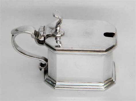 solid silver vintage solid silver mustard pot birmingham 1929 1929